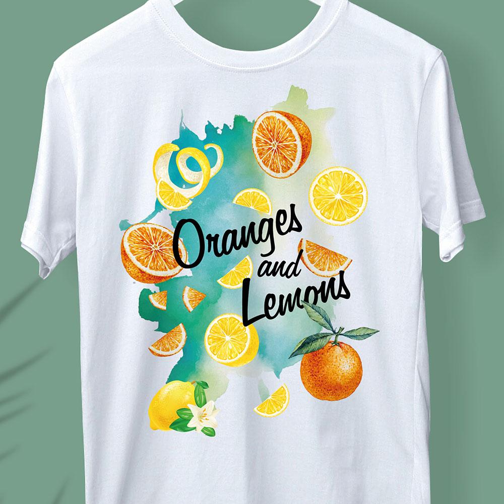 KOSA COFFEE Tシャツデザイン「Oranges and Lemons」