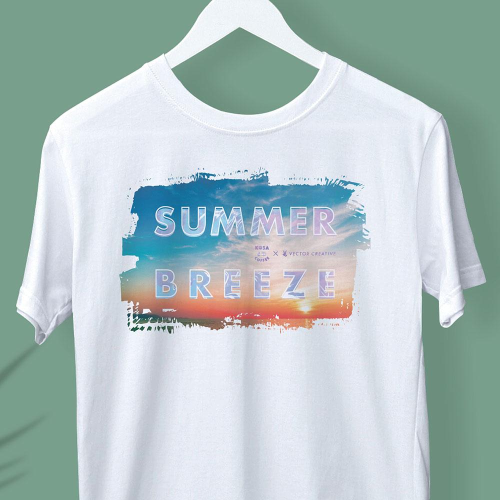 KOSA COFFEE Tシャツデザイン「SUMMER BREEZE」